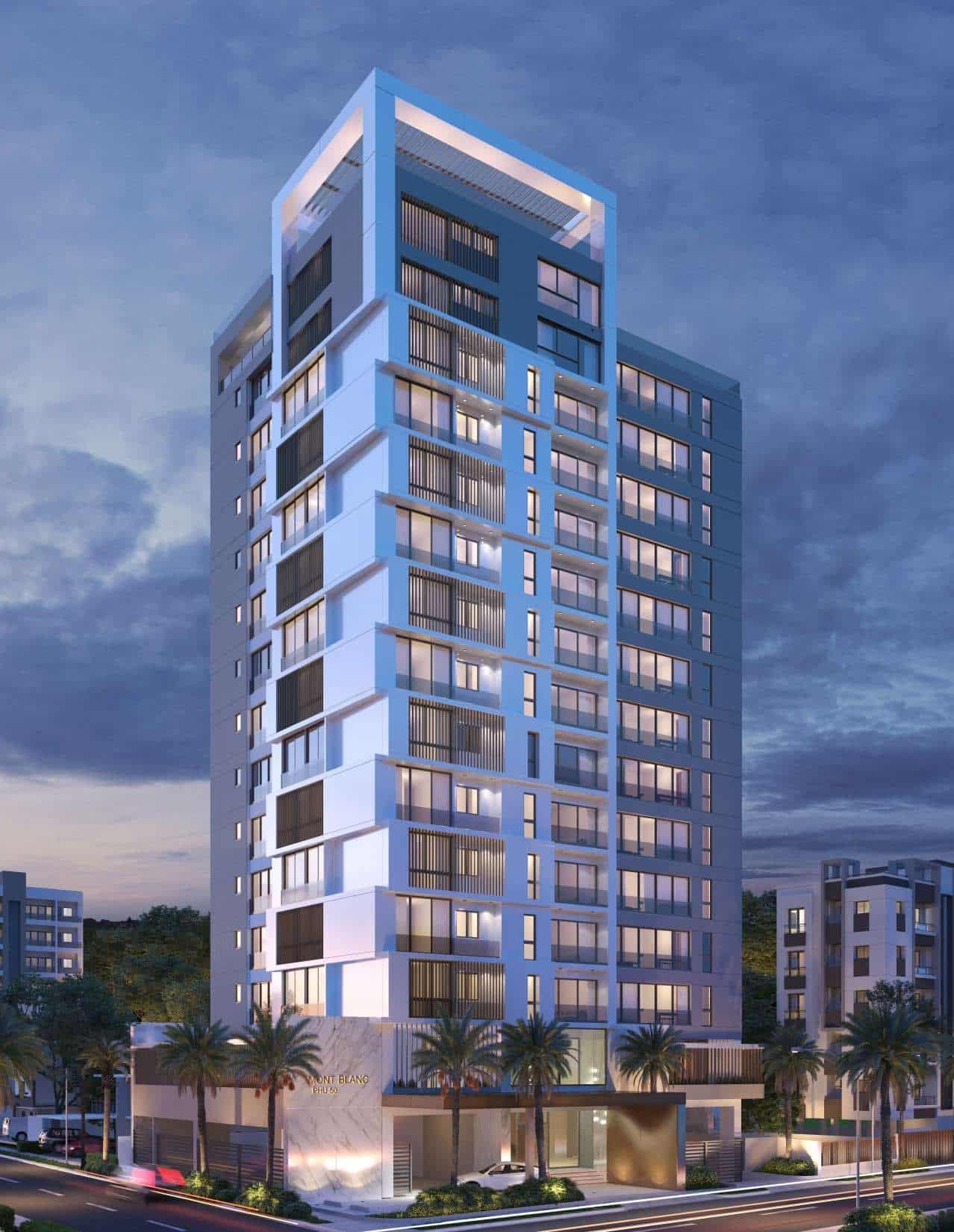 proyecto residencial ubicado en la zona más exclusiva de la Ave. Pedro Henríquez Ureña