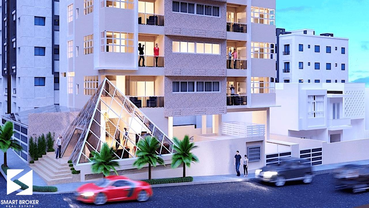 edificio habitacional ubicado en el Distrito Nacional
