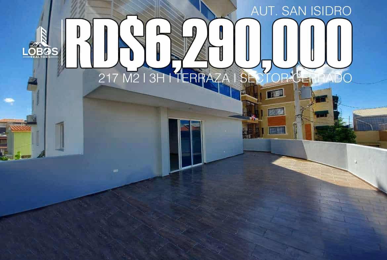 Apartamento con amplia terraza próximo a Coral Mall en Autopista San Isidro Santo Domingo Este