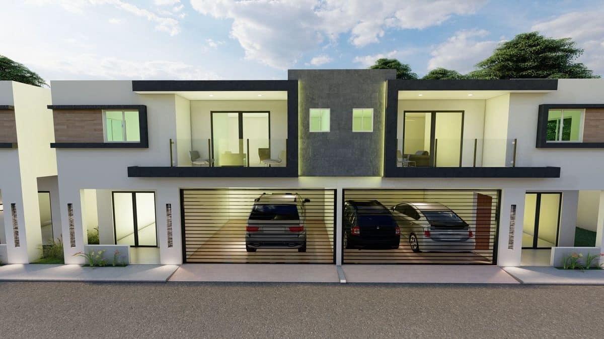 Casas de venta en Alma Rosa Segunda Santo Domingo Este Villas del Parque Bonaire US$130,000