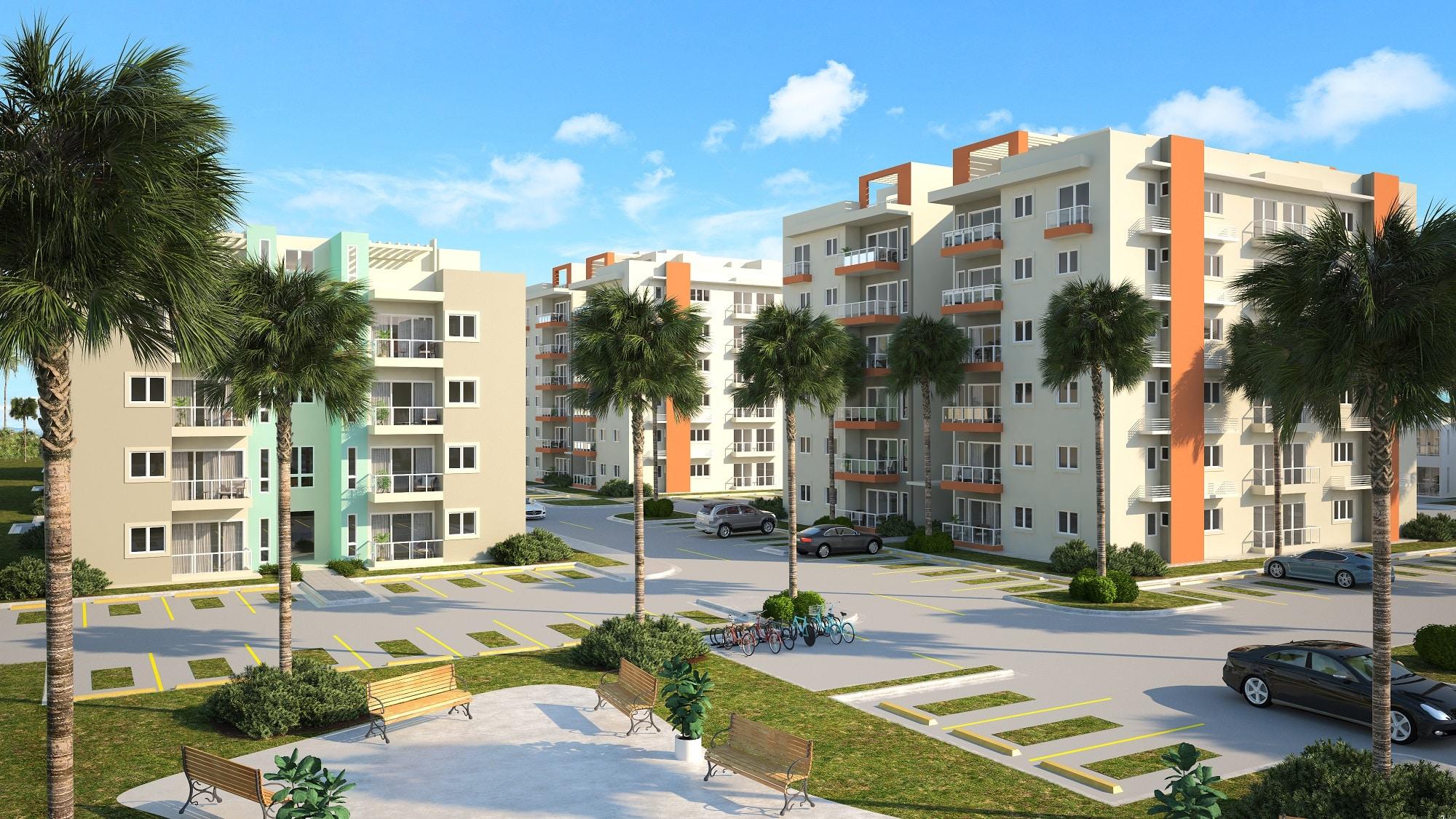 Apartamentos en venta con Bono del Gobierno Verón Punta Cana US$53,000