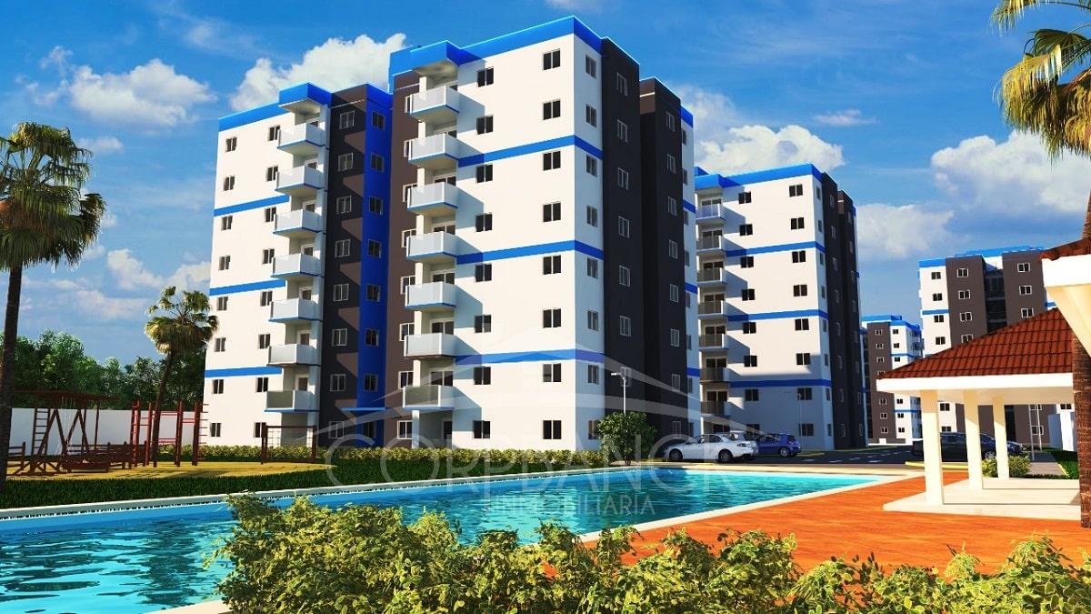 Apartamentos en la Prolongación 27 de Febrero Residencial West Towers US$ 66,353